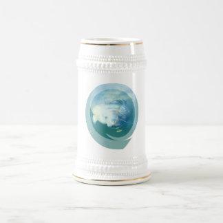 Peeking Manatee  Beer Stein Coffee Mug