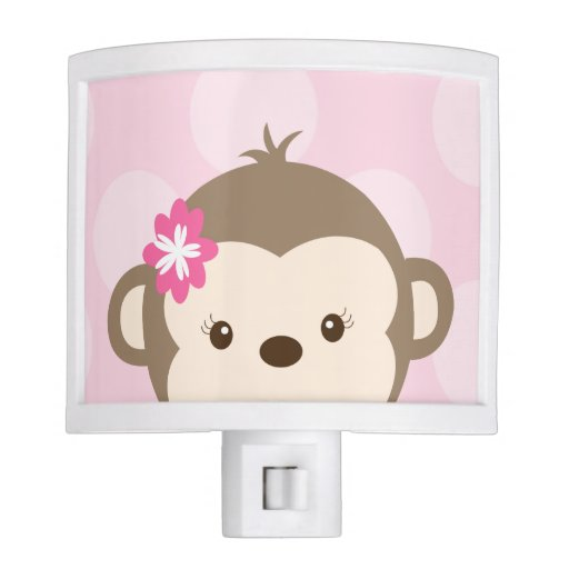 Peeking Mod Monkey Night Light (Pink)