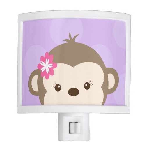 Peeking Mod Monkey Night Light (Purple)