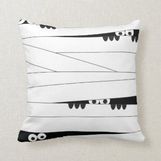 Peeking Mummy Throw Pillows