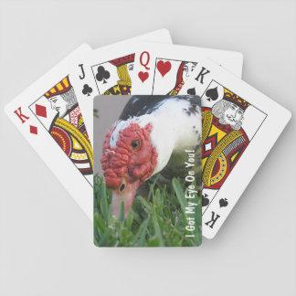 Peeking Muscovy Duck Close Up Photograph Deck Of Cards
