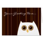 Peeking Owl Card