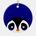 Peeking Penguins Ornaments