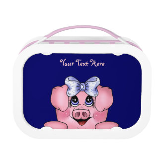 Peeking Piggy (customizable) Lunchbox Yubo Lunch Box