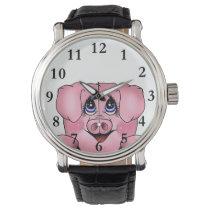 Peeking Piggy Watch