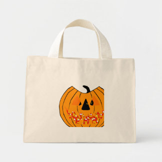 Peeking Pumpkin Face Tote Bag
