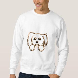 Peeking Puppy Dog Sweatshirt