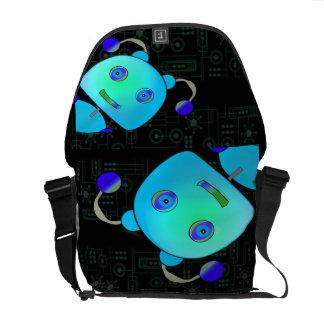 Peeking Robot Messenger Bag