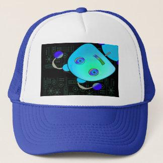 Peeking Robot Trucker Hat