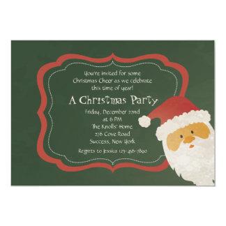 Peeking Santa Invitation