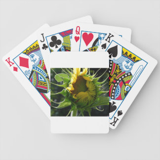Peeking Sunflower Bicycle Playing Cards