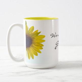Peeking Sunflower World's Best Grandma Mug