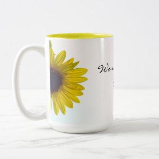 Peeking Sunflower World's Best Mom Mug
