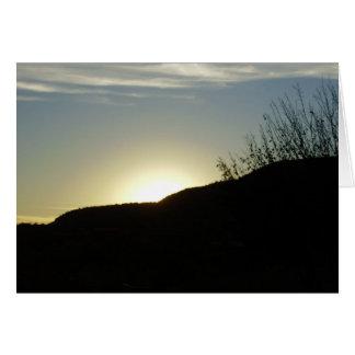 Peeking sunset near Sedona Greeting Cards