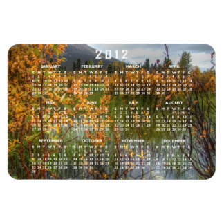 Peeking Through the Brush; 2012 Calendar Rectangular Photo Magnet