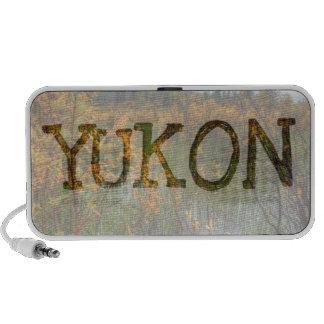 Peeking Through the Brush; Yukon Souvenir Notebook Speaker