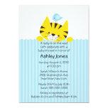 Peeking Tiger Neutral Baby Shower Invitation