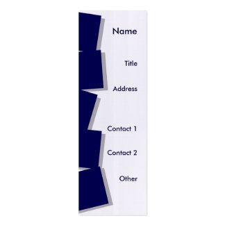 Peeking Tumbling Blocks Business Card Templates