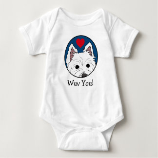 Peeking Westie Wuv You! Infant Bodysuit