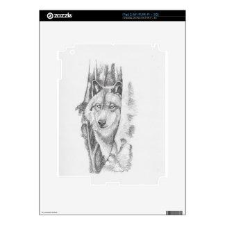 Peeking Wolf.jpg iPad 2 Decal