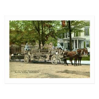 Peekskill, N.Y., gancho de Cortland y coche de Tarjeta Postal