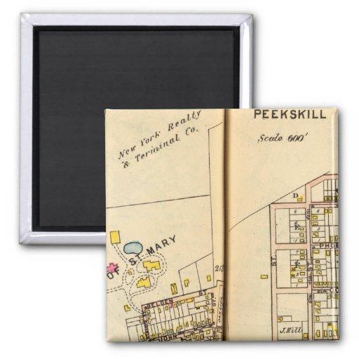 Peekskill, New York 3 Magnets