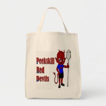 USA Themed Peekskill Red Devil Tote Bag