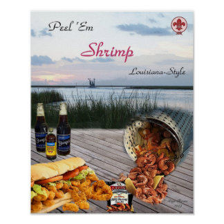 Peel Em Shrimp Poster