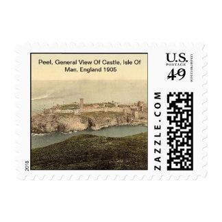 Peel, General View Of Castle, Isle Of Man, England Stamp