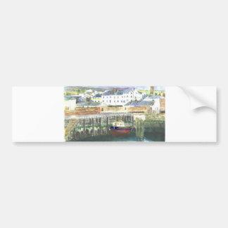 Peel Harbour Isle of Man Car Bumper Sticker
