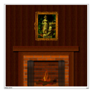 Peel & Stick Fireplace Wall Mural Faux Fireplace Wall Sticker
