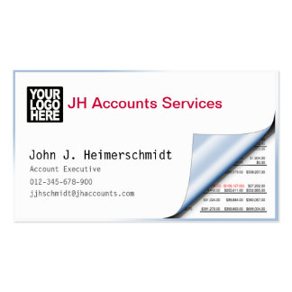 Peelback Balance Sheet White Business Card