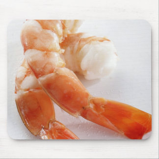 Peeled and cooked shrimp from a breeding - mouse pad