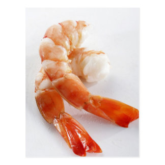 Peeled and cooked shrimp from a breeding - postcard