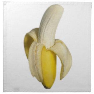"""Peeled banana"" design cloth napkins"