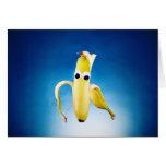 peeled Banana Man greeting card