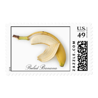 Peeled Banana Postage Stamps