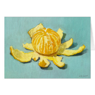 Peeled Clementine Still-life Card