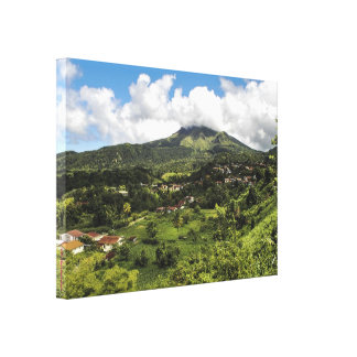 Peeled mountain of Martinique Canvas Print