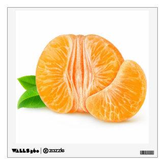 Peeled tangerine wall sticker