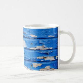 Peeling Blue Paint Coffee Mug