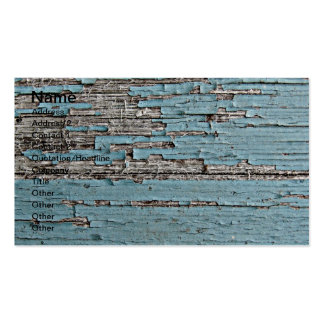 Peeling Blue Paint on Wood Photo Double-Sided Standard Business Cards (Pack Of 100)