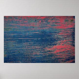 Peeling brush-stroked paint print