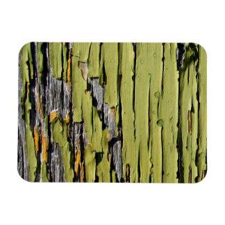 Peeling Green Paint on Weathered Barn Wood Magnet
