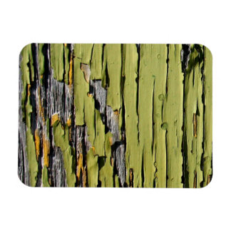Peeling Green Paint on Weathered Barn Wood Rectangular Photo Magnet
