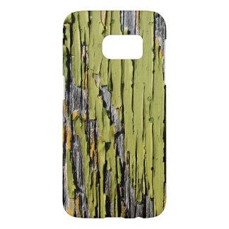 Peeling Green Paint on Weathered Barn Wood Samsung Galaxy S7 Case