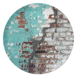 Peeling Paint Brick Wall Plate