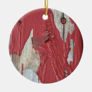 Peeling Paint Ornament