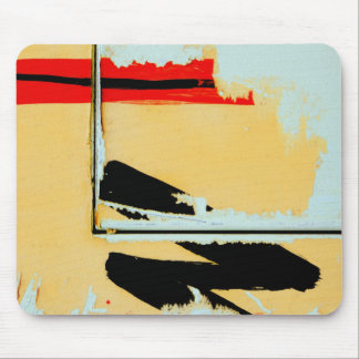Peeling Painted Paper Art -Black Red Yellow Green Mouse Pad