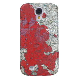 Peeling Red Paint Against Cement Galaxy S4 Case